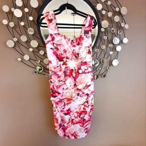 Dress pink floral. 8 /10